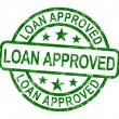Loan Approved Stamp Shows Credit Agreement Ok — Stock Photo #10999902