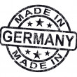 Made In Germany Stamp Shows German Product Or Produce — Stock Photo