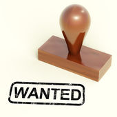 Wanted Rubber Stamp Shows Needed Required Or Seeking — Foto Stock
