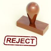 Reject Stamp Showing Rejection Denied Or Refusing — Stock Photo