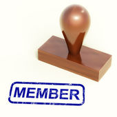 Member Rubber Stamp Shows Membership Registration And Subscribin — Stock Photo