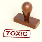 Toxic Stamp Shows Poisonous And Noxious Substances — Stock Photo