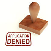 Application Denied Stamp Shows Loan Or Visa Rejected — Stock Photo