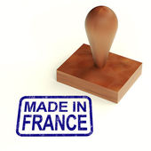 Made In France Rubber Stamp Shows French Products — Stock Photo