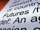 Futures Definition Closeup Showing Advance Contract — Stock Photo