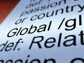Global Definition Closeup Showing Worldwide Or International — Stock Photo