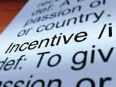 Incentive Definition Closeup Showing Enticing — Stock Photo