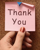 Thank You Note As Thanks Message — Stock Photo