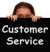 Customer Service Sign Shows Help Or Assistance — Stock Photo