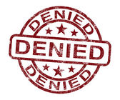 Denied Stamp Showing Rejection Or Refusal — Stock Photo
