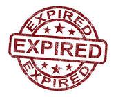 Expiration de validité de produit montre timbre terminée — Photo