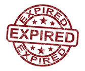 Expired Stamp Shows Product Validity Ended — Stock Photo