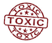 Toxic Stamp Shows Poisonous And Noxious Substance — Stock Photo