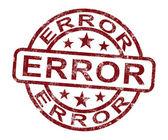 エラー スタンプの間違いの障害または欠陥を示しています — ストック写真