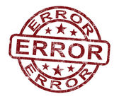 Selo de erro mostra erro falha ou defeito — Foto Stock