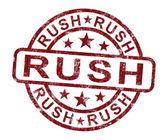 Rush Stamp Shows Speedy Urgent Delivery — Zdjęcie stockowe