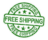 Free Shipping Stamp Showing No Charge Or Gratis To Deliver — Stock Photo