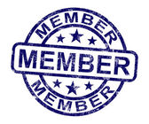 Member Stamp Shows Membership Registration And Subscribing — Stock Photo
