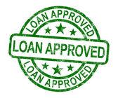 Prêt approuvé timbre montre un accord de crédit ok — Photo