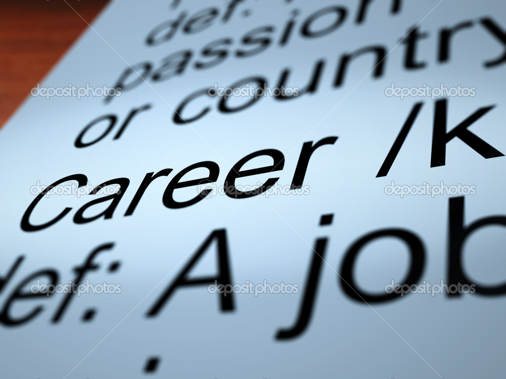 Career Definition Shows Profession And Employment — Stock Photo #10999608