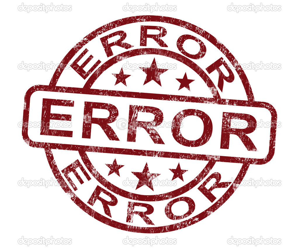 Error Stamp Shows Mistake Fault Or Defects — Stock Photo #10999861