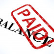 Balance Paid Stamp Shows Bill Payment Made — Stock Photo