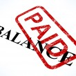 Balance Paid Stamp Shows Bill Payment Made — Stock Photo #11000045