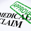 Постер, плакат: Medical Claim Approved Stamp Shows Successful Medical Reimbursem