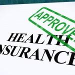 formulario de seguro de salud aprobado muestra applicat médico exitoso — Foto de Stock