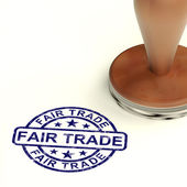 Fair Trade Stamp Shows Ethical Produce And Products — Stock Photo