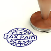 Tax Paid Stamp Showing Excise Or Duty Paid — Stock Photo