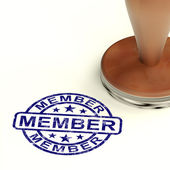 Member Stamp Showing Membership Registration And Subscribing — Stock Photo