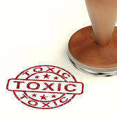 Toxic Stamp Shows Poisonous Lethal And Noxious Substance — Stock Photo