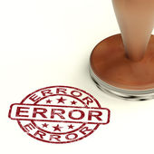 Error Stamp Shows Mistake Fault Or Defects — Stock Photo