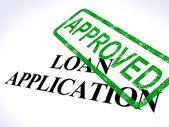 Demande de prêt approuvé montre un accord de crédit — Photo