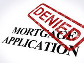 Mortgage Application Denied Stamp Shows Home Finance Refused — Stock Photo