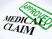 Medical Claim Approved Stamp Shows Successful Medical Reimbursem — Stock Photo
