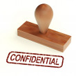 Stock Photo: Confidential Rubber Stamp Showing Private Correspondence