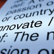 Innovate Definition Closeup Showing  Ingenuity — Lizenzfreies Foto