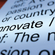 图库照片: Innovate Definition Closeup Showing Ingenuity