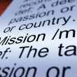 Mission Definition Closeup Showing Task Or Goal — Stock Photo #11105190