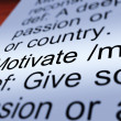 Stock Photo: Motivate Definition Closeup Showing Positive Encouragement