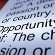Opportunity Definition Closeup Showing Chance — Stock Photo #11105216