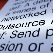 图库照片: Outsource Definition Closeup Showing Subcontracting