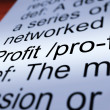 Profit Definition Closeup Showing Income From Business — Stock Photo