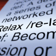 图库照片: Relax Definition Closeup Showing Less Stress