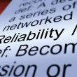 Reliability Definition Closeup Showing Dependability — Stock Photo