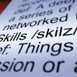 Skills Definition Closeup Showing Aptitude And Competence — Stock Photo #11105282