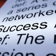 Foto de Stock  : Success Definition Closeup Showing Achievements