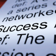 Success Definition Closeup Showing Achievements — Stock Photo